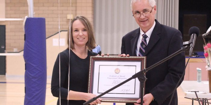 Coach Jodie Joslin Honored For 10 Years Of Commitment To Homeschool Atheletics